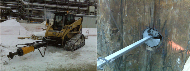 Sheet Pile Wall- Helical Tie-Back Anchors