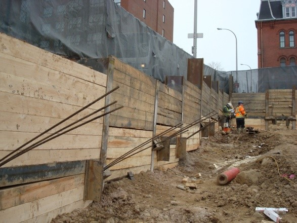 Soldier Pile And Lagging Excavation Shoring Systems